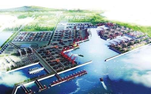 """图:董家口港是中国首个按""""地主港""""模式发展的港口"""