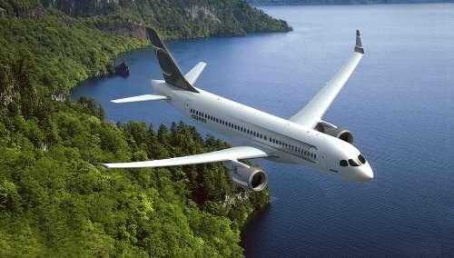 图:庞巴迪cs300系列单通道飞机效果图