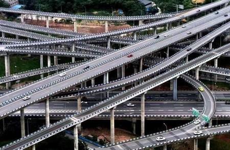 导航都看哭了 重庆最复杂立交桥完工