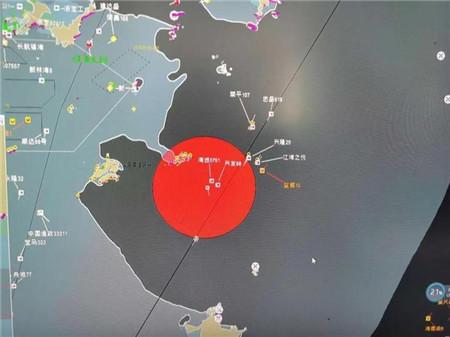 臺州海域兩船相撞 一船沉沒11人全部獲救(附圖)